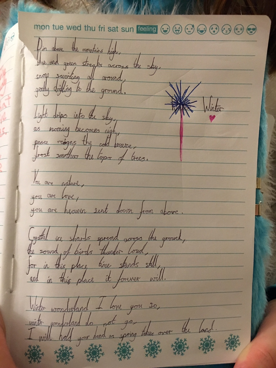 Shae Paterson, age 9 (year 5) Gosforth Junior Poem